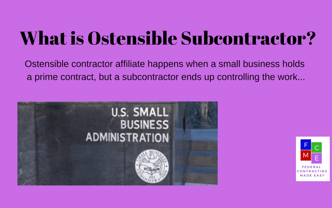 What is an Ostensible Subcontractor Rule?